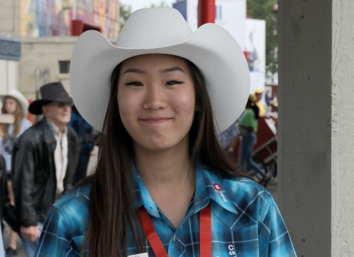 Asiatisch-Canadese cowgirl