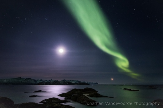 De maan, Venus en haar groene sluier