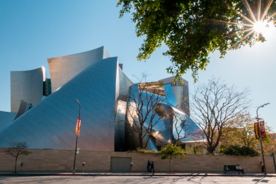 Frank Gehry's Disney Concert Hall, Downtown