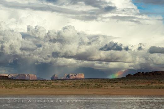 Onweer boven Lake Powell, Arizona/Utah